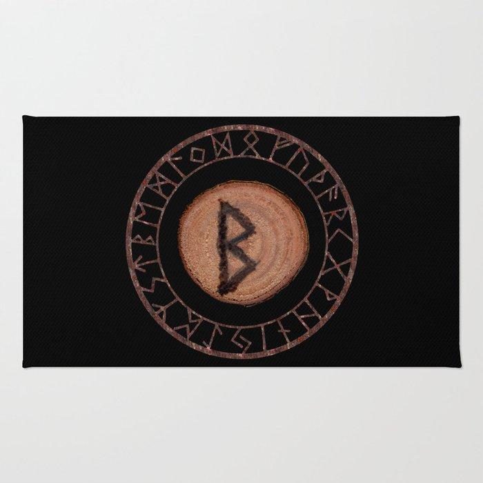 Berkano Elder Futhark Rune secrecy, silence, safety, mature wisdom, dependence, female fertility Rug