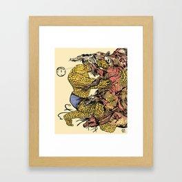 The Thing Vs. The Thing Framed Art Print
