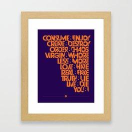 """The """"&"""" Poster Framed Art Print"""