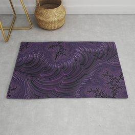 Fractal Art-Purple Slinky Rug
