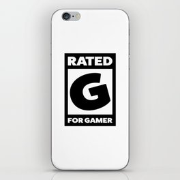 Rated G for gamer iPhone Skin