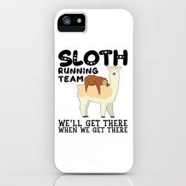 Lama Sloth Running Team Sarcasm Sarcastic iPhone Case