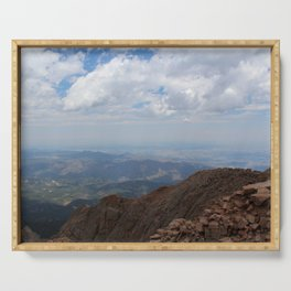 View From Pike's Peak Serving Tray