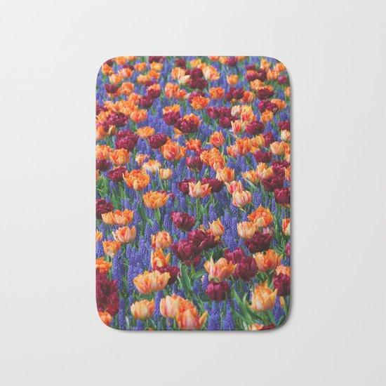 Flowerbed Medley Bath Mat