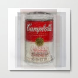 Campbells Soup Can Overlay Metal Print