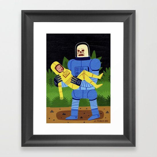 Loss in Space Framed Art Print