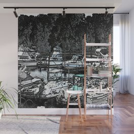 all Boats in a Row Wall Mural