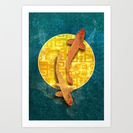 Koi Sol Art Print