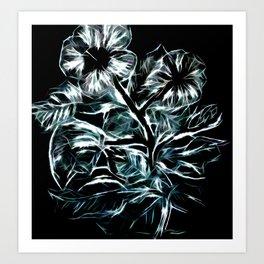 Flowers In Green Art Print