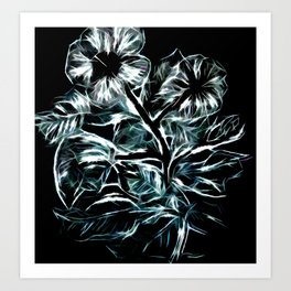 Flowers In Green Art Print