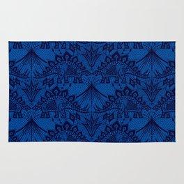 Stegosaurus Lace - Blue Rug