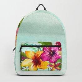 Tropical Summer Flowers 2 Backpack