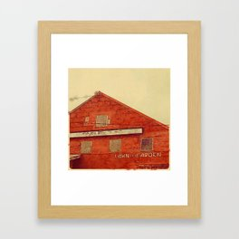 Lawn and Garden Shop, Norway, ME Framed Art Print