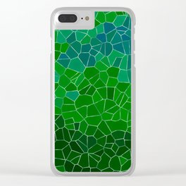 Mosaic Forest Clear iPhone Case
