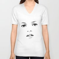 kate moss V-neck T-shirts featuring Kate Moss T by Mauricio Vargas