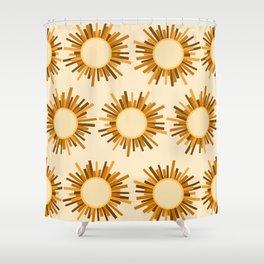 Art Deco Starburst Shower Curtain