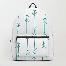 Blue, Teal: Arrows Pattern Backpack