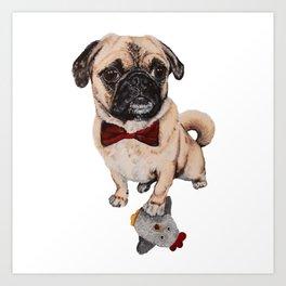 Rupert the Pug Art Print