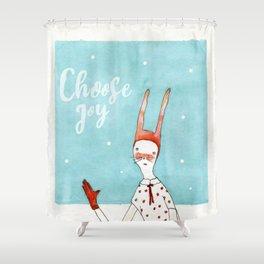 Choose Joy Quote Shower Curtain