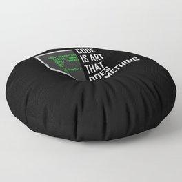 Coder Debugging Code Programmer Programming Gift Floor Pillow