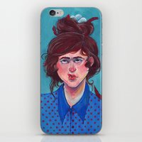 birdy iPhone & iPod Skins featuring Birdy by Alice Holleman