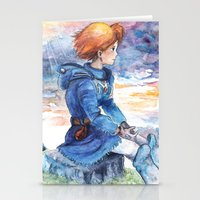 nausicaa Stationery Cards featuring The cloudy Sky in the Valley by LucioL