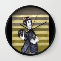 homestuck Wall Clocks featuring SolKat by Sprat