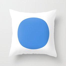 test blue dot 321 Throw Pillow