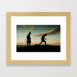 Follow the inspiration Framed Art Print