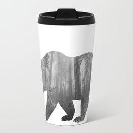 Bear Silhouette | Forest Photography Travel Mug