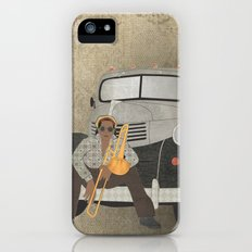 Trombone musician and his 1946 Dodge pickup truck Slim Case iPhone (5, 5s)