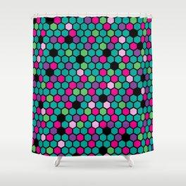 Hive Jive Mellow Shower Curtain