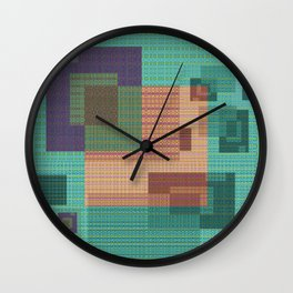 Weaving Loom Geometric Print 1 Wall Clock