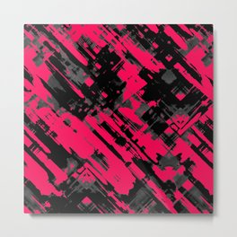 Hot pink and black digital art G75 Metal Print