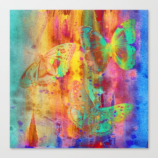 Colorful Butterfles Q Canvas Print