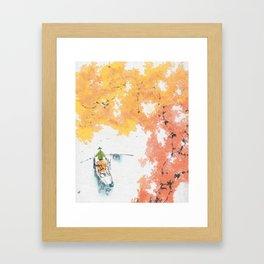 Autumn Drifting Framed Art Print