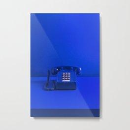 Blue Phone Metal Print