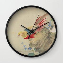 Japanese PHEASANT Wall Clock