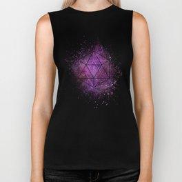 d20 Icosahedron Crystal Wind Biker Tank
