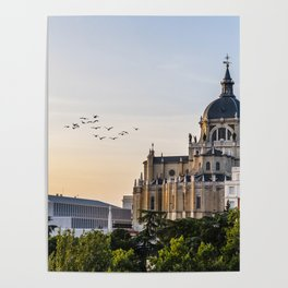 Almudena cathedral of Madrid Poster