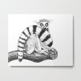 Lemur drawing Metal Print