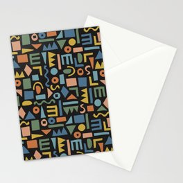 Colorful Shapes Stationery Cards