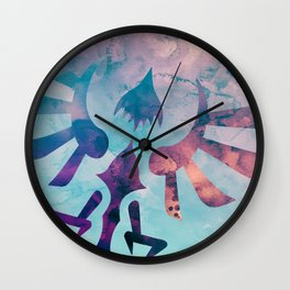 Watercolored Hylian Crest Wall Clock