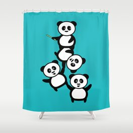 Cirque du panda Shower Curtain