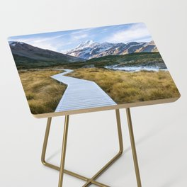 Mt.Cook New Zealand - A hikers dream Side Table