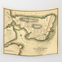 Map Of Boston 1818 Wall Tapestry