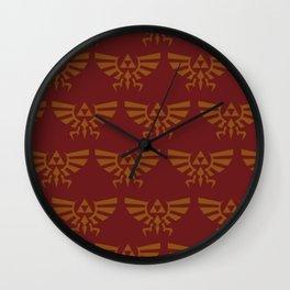 Zelda Pattern Red Wall Clock