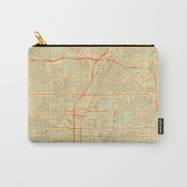 Las Vegas Map Retro Carry-All Pouch