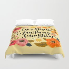 Pretty Swe*ry: I'm a Ray of Fucking Sunshine Duvet Cover