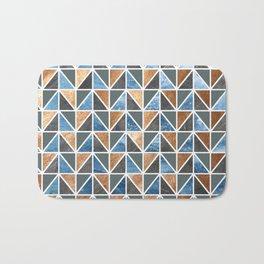 Gold Steel Ice geometric pattern Bath Mat